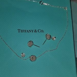 Tiffany &Co Twisted knot earrings and necklace
